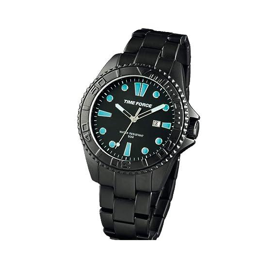 Time Force Reloj Analógico para Hombre de Cuarzo con Correa en Acero Inoxidable TF4190M13M: Amazon.es: Relojes