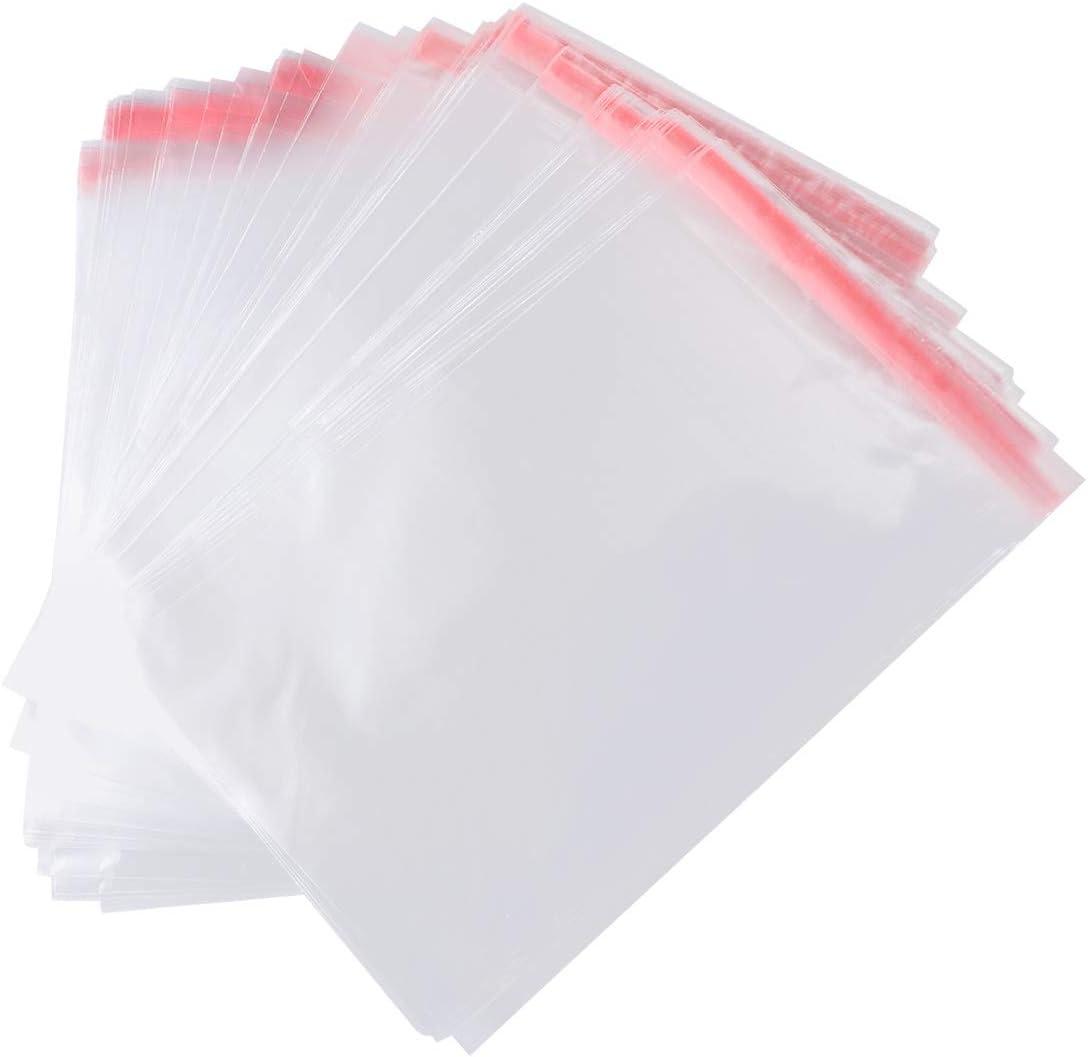 Toyvian 100 unids Bolsas de celofán Transparente plastico pequeñas con Cierre autocierre Banda autodhesiva para Caramelo Bombones Regalos de Boda