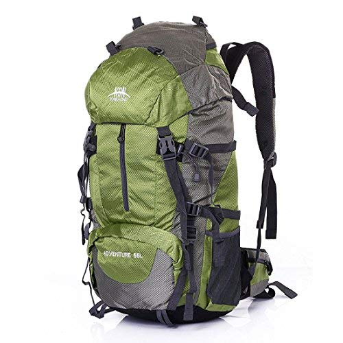 Mooedcoe 55L Internal Frame Hiking Backpack Outdoor Travel Camping Climbing Mountaineering Waterproof Backpacking Packs (Green) [並行輸入品] B07R4WKGQH
