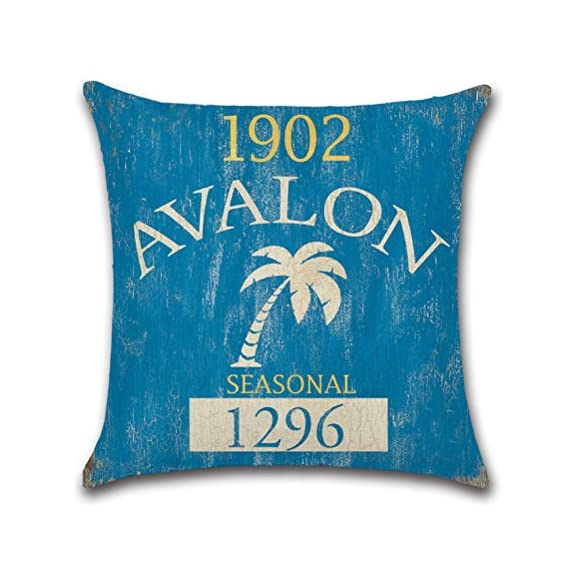 Vintage Series Throw Pillow Case U-Love Beach Cushion Cover for 18 X 18 Inch Nautical Pillow Inserts,4 Pack Coastal Pillow Covers - ✔Made of Durable and Environmentally Friendly Cotton Linen Materials.soft, fade-resistant and wrinkle-resistant;Keep your Square Throw Pillow clean and against scratch, finger marks. ✔Beach Pillow Cover,used for 18 x 18 Inches Pillow Inserts (pls note:Inserts are not included and the pattern paint one side only). ✔Easy to match your sofa, couch & other pillows.Soft and durable for both indoors (living room, office,bedroom, etc.) and outdoors (patio,car etc.). - patio, outdoor-throw-pillows, outdoor-decor - 51T5FY7x0mL. SS570  -