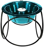 Platinum Pets Slow Eating Single Olympic Diner Feeder with Stainless Steel Dog Bowl, Caribbean Teal