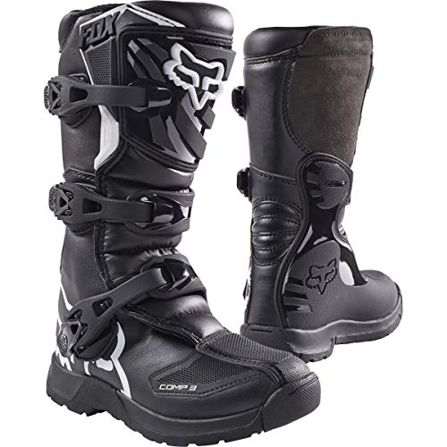 Fox Racing 2019 Youth Comp 3 Boots (6) (Black)