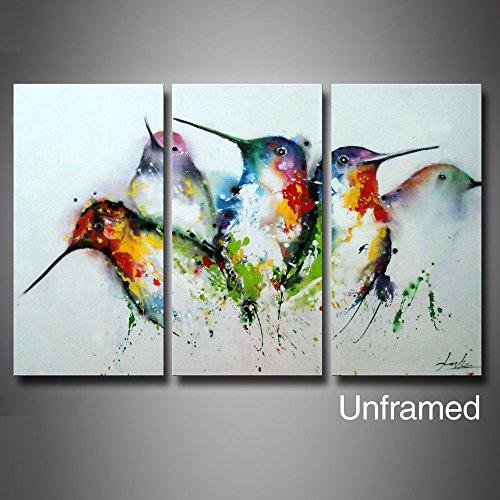 3 piece unframed wall art for 3 piece painting ideas