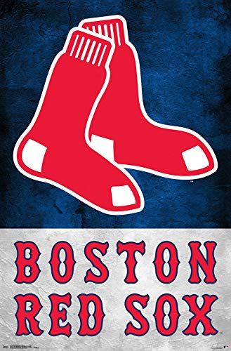 Trends International Boston Red Sox-Logo Mount Bundle Wall Poster 22.375