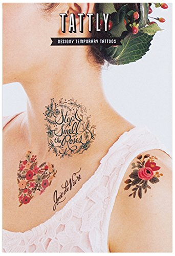 Tattly Temporary Tattoos Floral Ounce