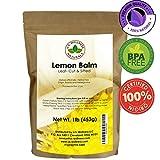 Lemon Balm Tea (Bulk Herbal Tea): Bulk Lemon Balm Leaf (Melissa Officinalis Caffeine Free) -- Herbal Balm, Bulk Balm Leaf (Cut and Sifted), 1lb (16Oz) U.S. Wellness Bulk Tea