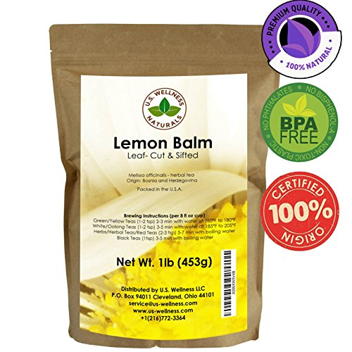 Lemon Balm Tea (Bulk Herbal Tea) (Cut and Sifted), 1lb (16Oz)