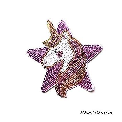 12Pcs DIY Unicorn Horse Comics Cartoon Kid Patches Transfers Stickers Headwear
