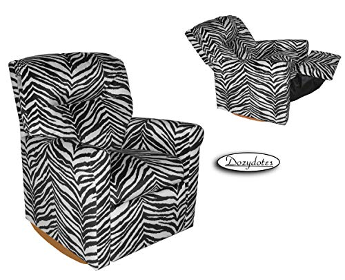 (Dozydotes Contemporary Zebra Rocker Recliner)