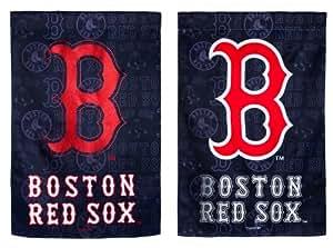 Boston Red Sox Glitter Logo Garden Flag