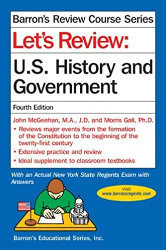 amazon com let s review u s history and government barron s let s rh amazon com us history regents study guide sheet us history regents study guide sheet