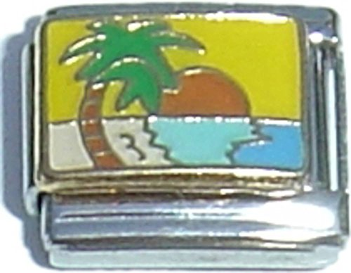 - Sunset With Palm Tree Italian Charm
