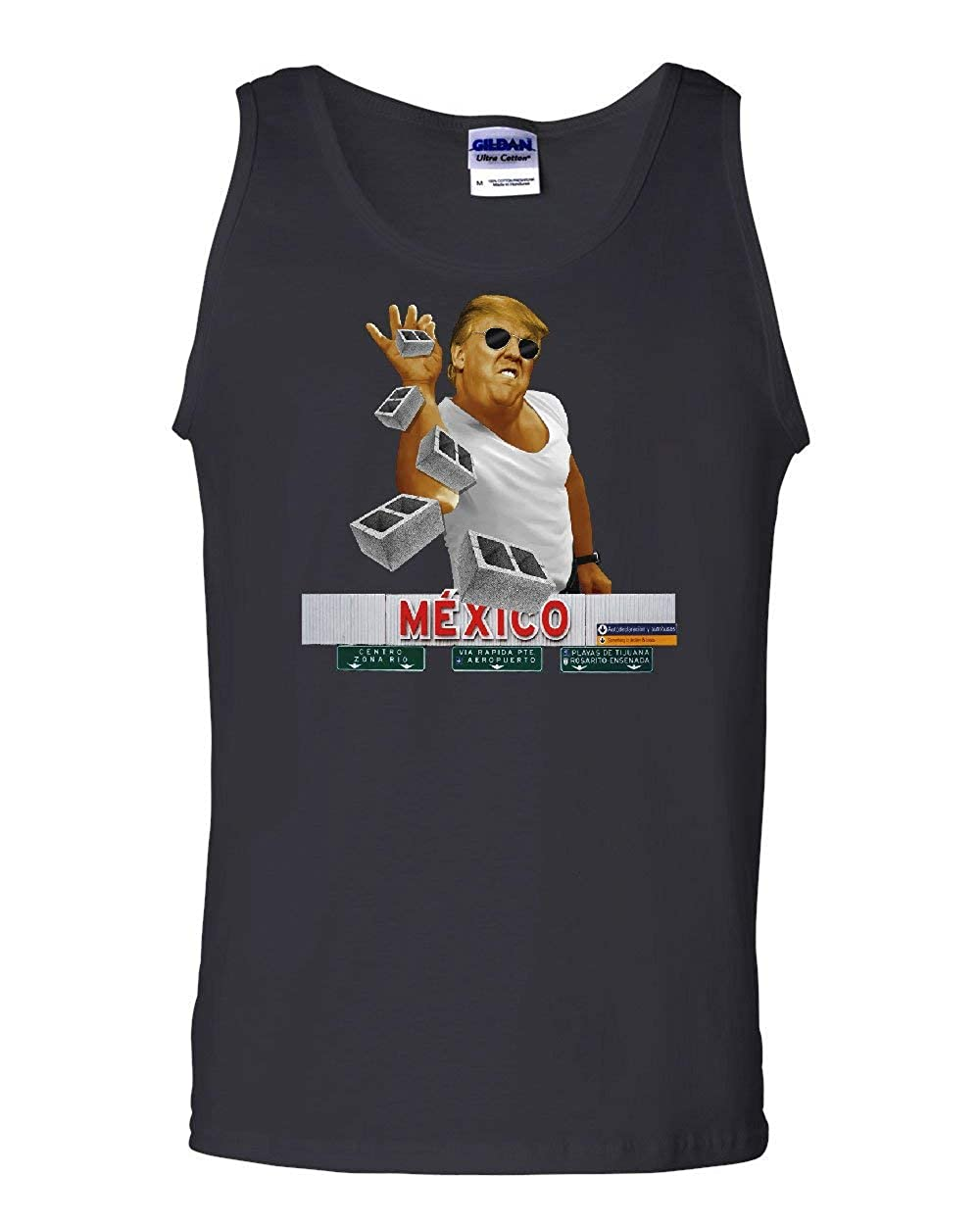 A Pinch of The Wall Tank Top Trump Salt Bae Immigration Mexico Sleeveless