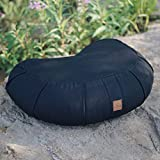 Premium Zafu Yoga Meditation Pillow – Beautiful Black Crescent Buckwheat Hull Filled Floor Pillow with 100% Organic Cotton Washable Cover & Carrying Handle… Review