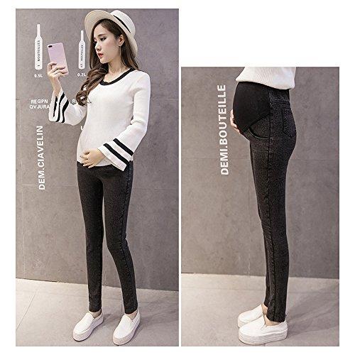 da Donna Autunno Elastici moda ZEVONDA Moda Nero Jeans Leggings in Incinta XYfxaq