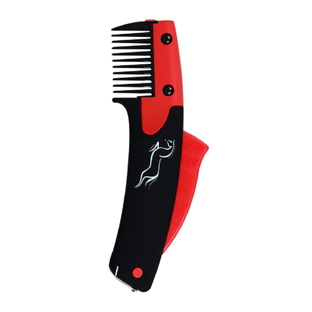 Solo Groom Solo Comb Easy to Use Humane Mane & Tail Grooming Tool No Pulling Breaking or Tearing Hair by Solo Brush