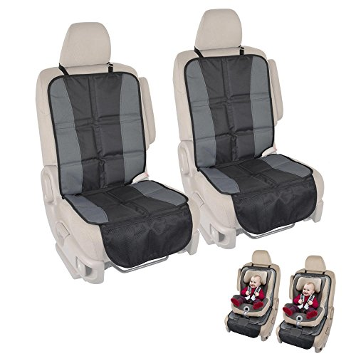 BDK SC058 2 InstaSeat Protectors Child & Baby Seats-Premium Non-Slip Backing Protects Vehicle Interior for Car SUV Van Truck (Set of 2) (Nsx Seat)