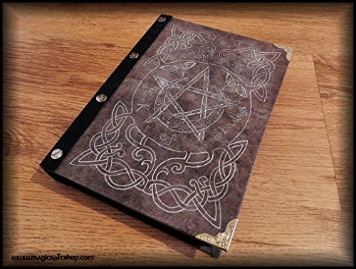 Celtic pentacle book of shadows - empty pages by MagiCraftShop UK