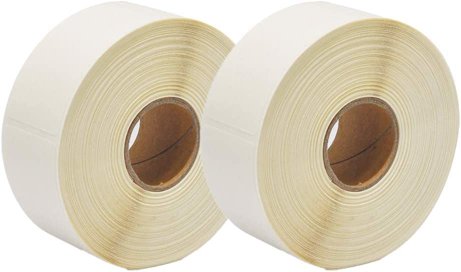 Blank White 1 x 2 Inch Dissolvable Labels for Food Rotation Prep roll of 500 (2 Rolls)