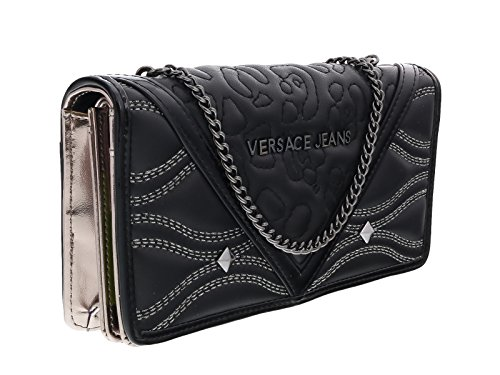Versace EE3VOBPK1 E899 Black Wallet On A Chain