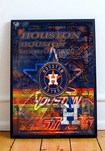 Houston Astros Limited Poster Artwork - Professional Wall Art Merchandise (More (16x20)