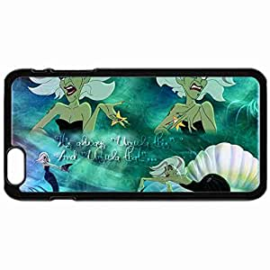 Fashion Custom Cover Case The Little Mermaid Phone Mobile Hard Plastic Cover Case For Iphone 6 Plus 5.5 Inch