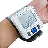 Finlon Wrist Blood Pressure Pulse Monitor Cuff with LCD Display - Automatic, Accurate, Portable and Perfect for Home Use - Electronic Meter Measures Pulse Rate