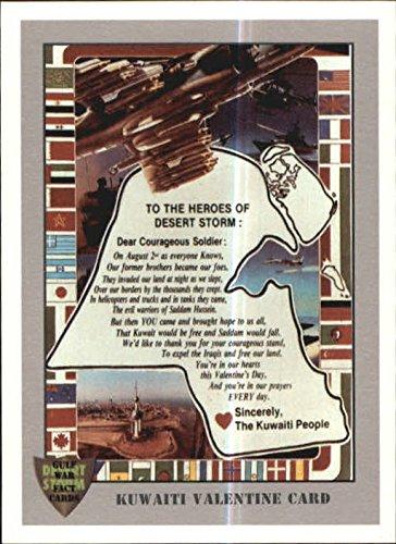 1991 Desert Storm Gulf War Facts #75 Kuwaiti Valentine Card - NM-MT