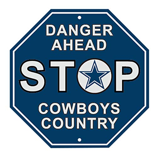 (RongJ- store NFL Dallas Cowboys Stop Sign Parking Sign, 12