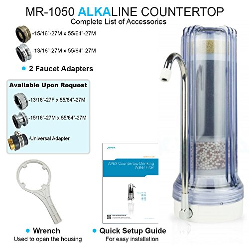 APEX Countertop Drinking Water Filter - Alkaline (Clear) by Apex (Image #5)