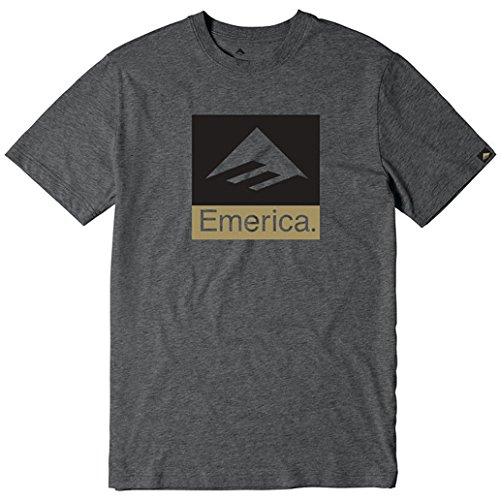 Emerica Combo (Emerica Combo 10 Short Sleeve T-Shirt Small Charcoal Heather)