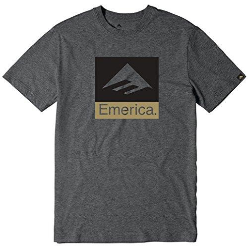Emerica Combo 10 Short Sleeve T-Shirt Small Charcoal Heather ()