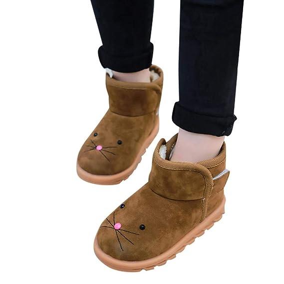 YanHoo Zapatos para niños Invierno Cálido Niños Bebés Niños y niñas de Invierno, además de