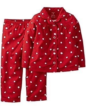 Baby Girl 2-Piece Fleece PJs (Red)