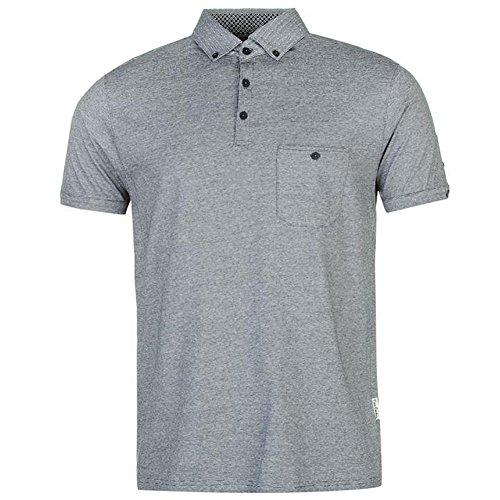 Pierre Cardin New Season Mens 100% Cotton Fine Stripe Polo Shirt With Signature Embroidery (Medium, (Fine Stripe Shirt)