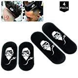 Jumbo Size Barber Hair grippers, Big Size Hair grippers barber, Mens Hair holder, Barber hair griper, Black/White Color,4 pack (two big two small)