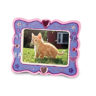 Melissa & Doug Decorate-Your-Own Wooden Picture Frame Craft Kit (fits 3.25 x 4.5 inch picture): Melissa & Doug: Toys & Games