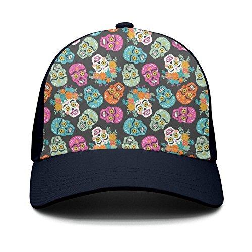 de39bb96ccf00 Owdkajds Day of The Dead Mexican Holiday Skull Unisex Adjustable Snapback  Baseball caps Classic Trucker Hat
