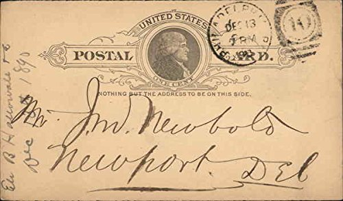 Blank United States Prepaid One Cent Postal Card Postal Cards Original Vintage (Cents Blank)