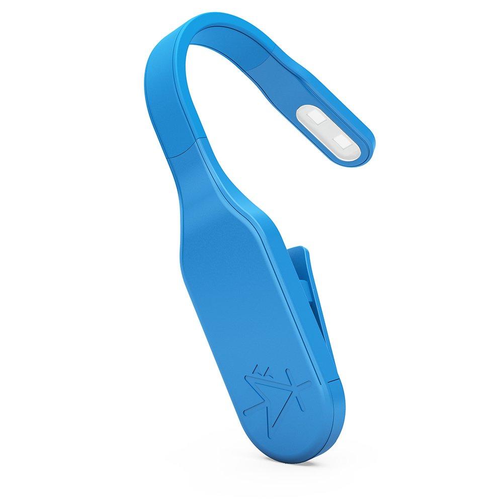 Blue Mighty Bright Sidekick LED Clip On Book Light Nimble With Adjustable Neck Providing 8 Lumens Of Light