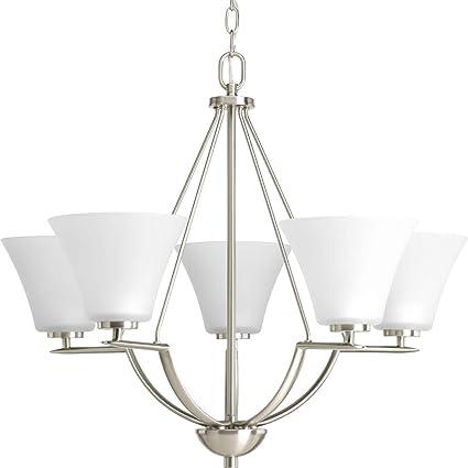Amazon.com: Bravo Cinco – Lámpara de techo de luz en níquel ...
