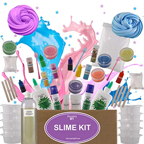 a5356aedf Ultimate DIY Slime Kit for Girls and Boys | Slime Kits | Slime Stuff | Slime  Making Kit | Slime Supplies Kit |Makes Cloud, Galaxy, Mermaid, Fruit Slice,  ...