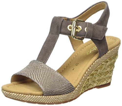 Gabor Shoes 42.824 Damen T-Spangen Sandalen, Braun (89 torba/fango(ba.st)), 37.5 EU (4.5 UK) EU