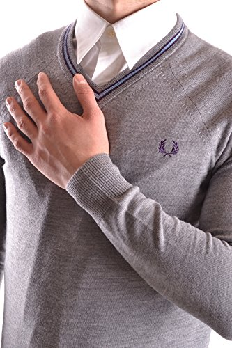 Fred Perry Homme MCBI128169O Gris Laine Maille