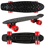 Flybar 22 Inch Complete Plastic Cruiser Skateboard Custom Non-Slip Deck Multiple Colors