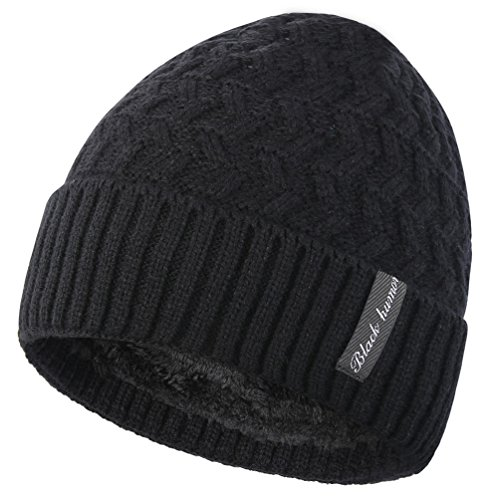 Novawo Fleece Lined Skull Beanie