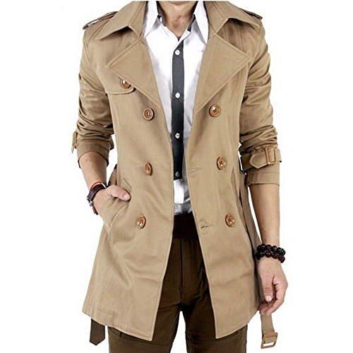 ZEARO Herren Mantel Windbreaker Windjacke Jacke Winter Trenchcoat Parka Windbreaker Outdoorjacke Jacket Coat