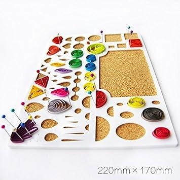 Papel Quilling plantilla molde Junta - Alicates DIY arte herramienta álbumes de recortes manualidades: Amazon.es: Juguetes y juegos