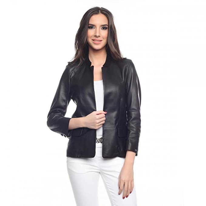 Tommy Hilfiger Womens Leather Jacket Fenton at Amazon ...