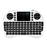 Rii Mini Bluetooth Touchpad Keyboard for PC/PAD/360XBox/PS3/Google Android TV Box/HTPC/IPTV, White (i8 BT)